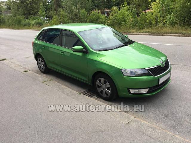 Автомобиль ŠKODA Rapid Spaceback для аренды в Швейцарии